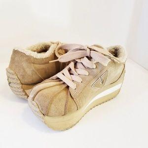 """Vintage Rare Volatile suede platform """"Tuff""""sneaker"""